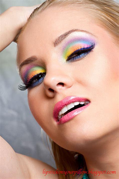 rainbow makeup  lipstick   pillow makeup beauty  fashion blog