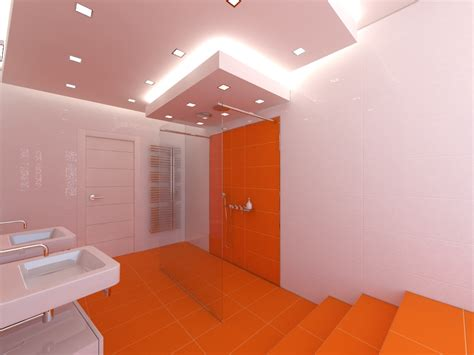bathrooms designs 2013 2013 orange bathroom design with white wall and vanity