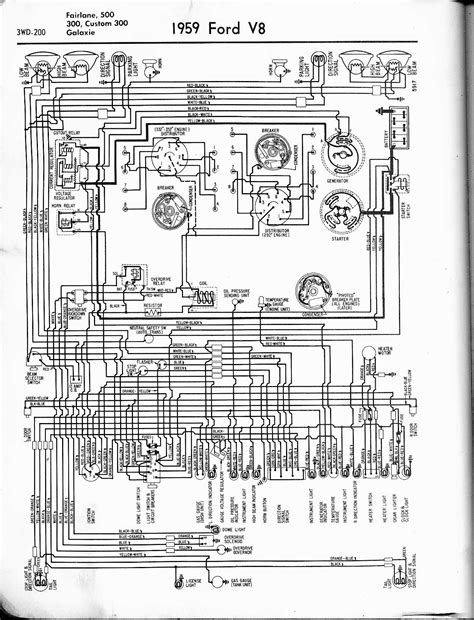 1970 Ford F600 Wiring Diagram by 57 65 Ford Wiring Diagrams