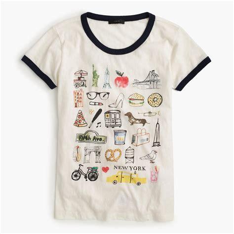 T Shirt Kaos New York shop the new york destination t shirt at jcrew and