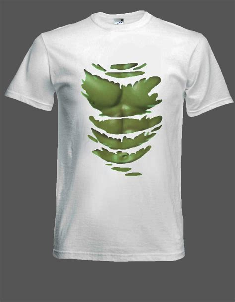 Torn T Shirt Template by Green Hulk T Shirt Muscles Through Ripped Tee Shirt Size S