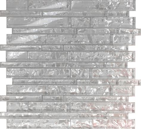 sample white pearl scent linear glass mosaic tile kitchen