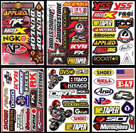 motocross helmet stickers supercross dirt bike helmet stickers motorcycle enduro
