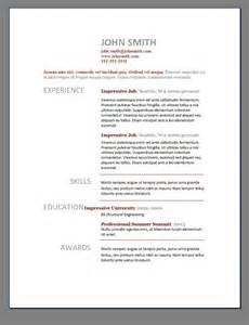 Best Resume Doc Template by Resume Template Free Templates To Popsugar
