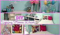 homemade room decorations DIY Spring Room Decorations & More! - YouTube