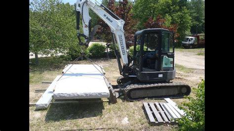 bobcat  lifting lbs youtube