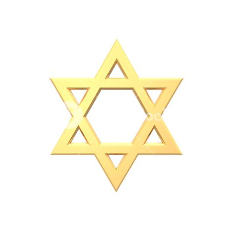 gold judaism religious symbol star  david isolated