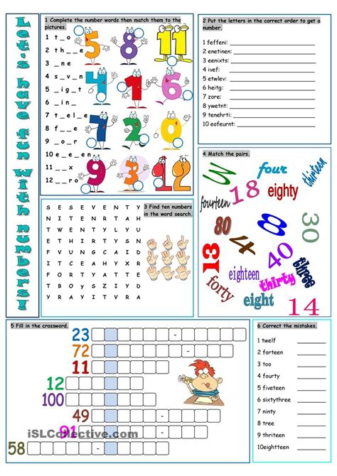 lets have fun with numbers esl pinterest numbers