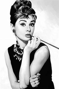 Audrey Hepburn Artwork Painting by Sheraz A