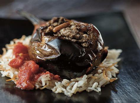 cuisine ottomane recette aubergines farcies de viande hachée sheikh el