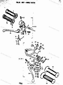 Suzuki Motorcycle 1973 Oem Parts Diagram For Grip