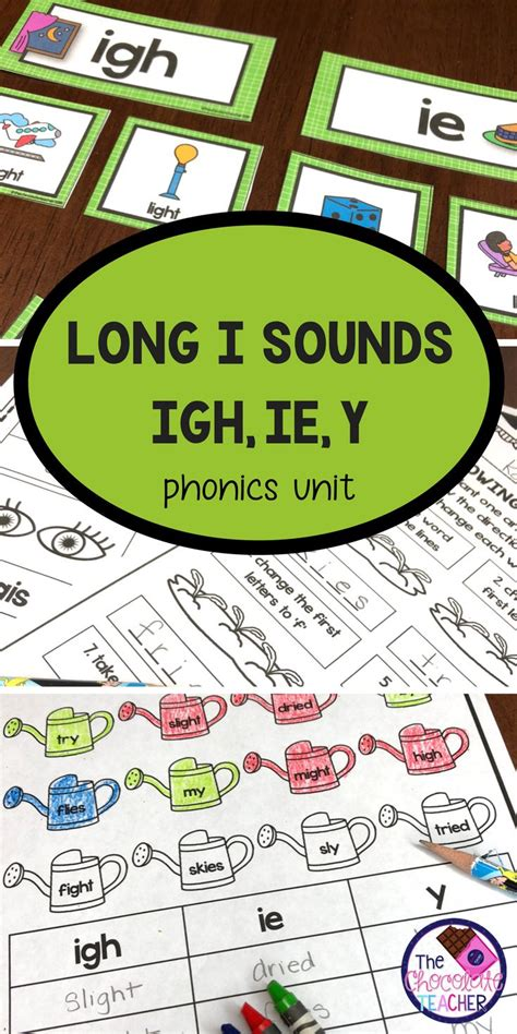 igh     long  phonics activities  images
