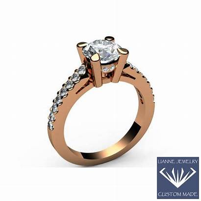 Ring Moissanite Engagement Solid Rings Unique Valentines