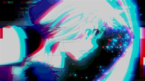 anime hd aesthetic glitch wallpaper