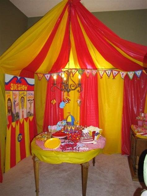 circus carnival themed birthday party ideas  kids