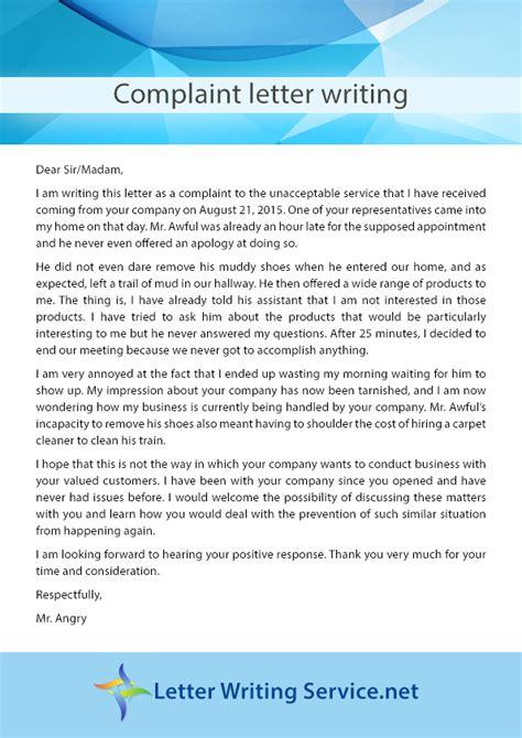 writing  good complaint letter letters  complaints