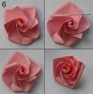 Aus Blättern Basteln : rose aus papier falten blumen basteln anleitung ~ Lizthompson.info Haus und Dekorationen