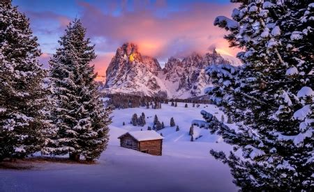 south tyrol winter nature background wallpapers