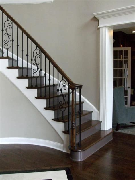 craftsman style stair railing new home staircases oak craftsman and more styles 6253