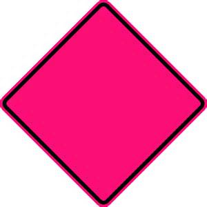 Fluorescent Pink Signs