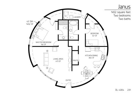 floor plan dl 4304 monolithic dome institute