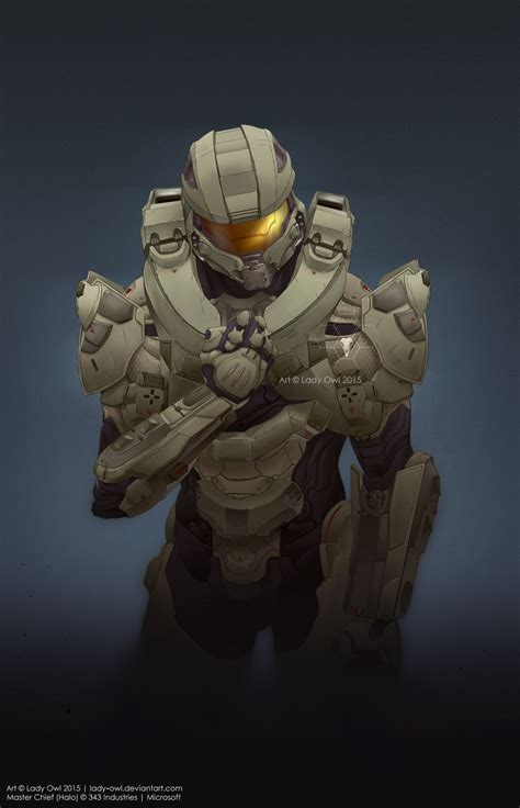 Lady Owl Master Chief John 117 As He Appears In Halo 5