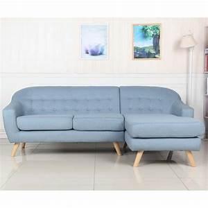 Canapé Scandinave Bleu : canap d 39 angle scandinave hygge 229cm bleu clair ~ Teatrodelosmanantiales.com Idées de Décoration