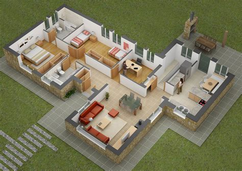 two bed room house 25 two bedroom house apartment floor plans