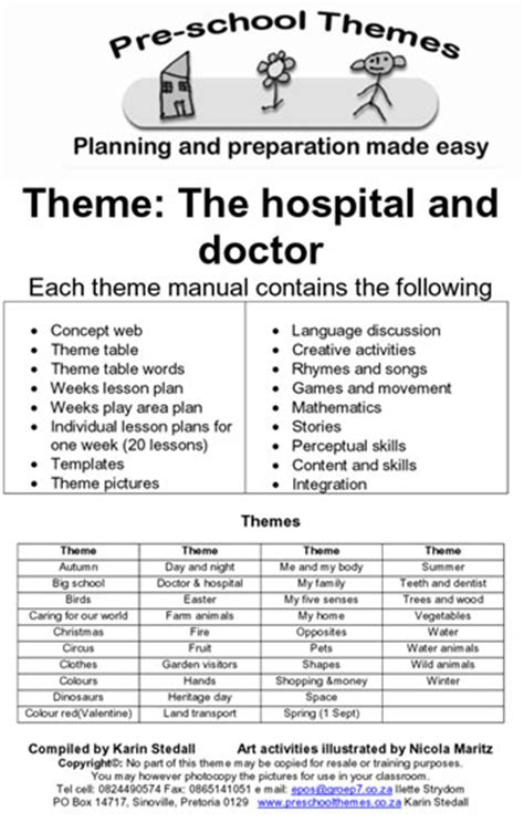 preschool themes example lesson plans for south 905 | example2