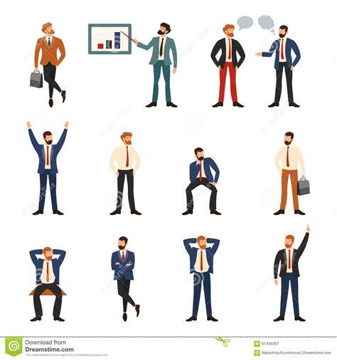 affaires de bureau groupe des affaires et gens de bureau illustration de