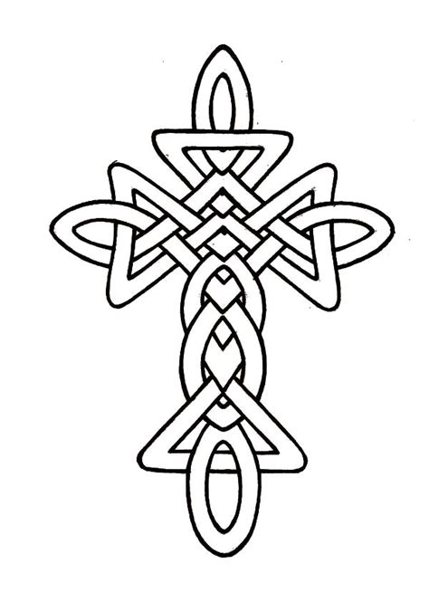 rose decorated celtic cross coloring pages  place  color