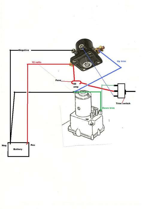 how to wire up out drive trim motor on 1973 searay w 302 mercruiser