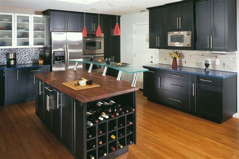 Kitchen Color Ideas With Oak Cabinets - 50 ideas black kitchen cabinet for modern home mybktouch com
