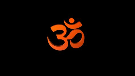 Spinning Hindu Om Alpha Channel Motion Background