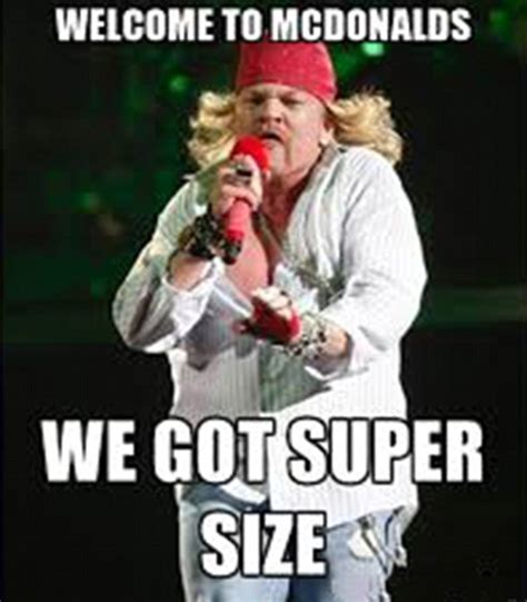 Axl Rose Memes - axl rose demands google remove image that led to memes mocking weight daily mail online