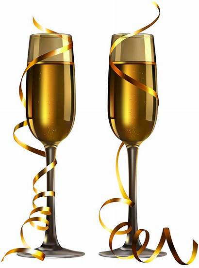 Champagne Glasses Clipart Transparent Glass Wine Background