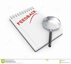 Notepad With Magnify Glass. Feedback Metaphor Stock Images ...