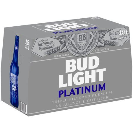 18 Pack Bud Light by Bud Light Platinum 174 18 Pack 12 Fl Oz Bottles