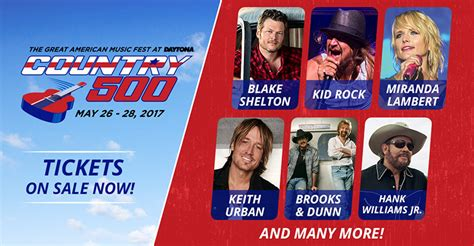 country fan fest 2017 lineup country 500 music festival announces lineup daytona