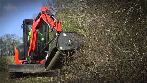 kubota uk   mini excavator  mini mower attachment youtube