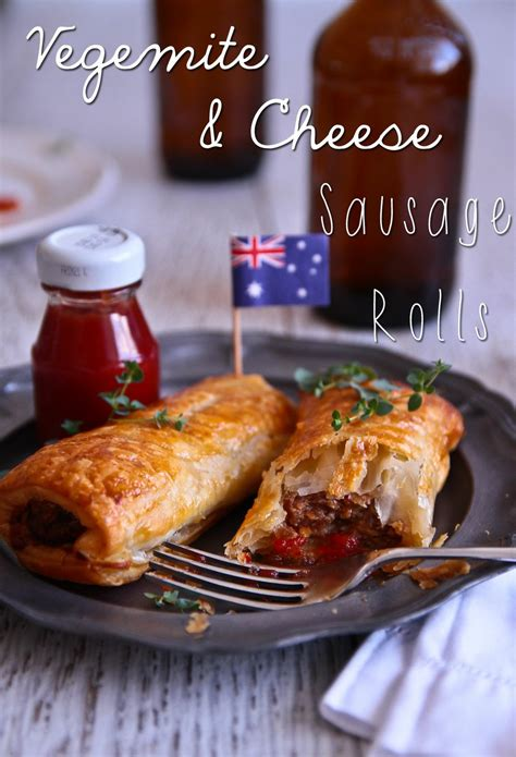 vegemite cheese sausage rolls recipe  party people
