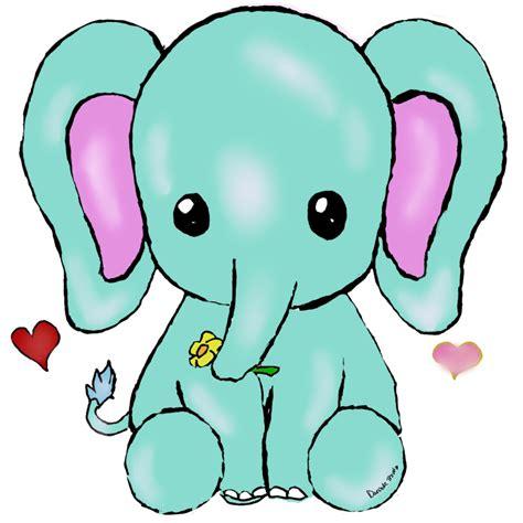 kawaii elephant  uniquecomedy  deviantart