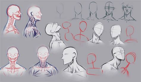 drawing male neck pose reference deviantart moli
