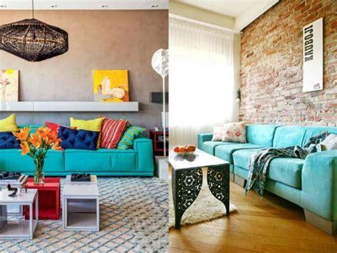 sofa turquesa sala decora 231 227 o azul turquesa dicas e 44 fotos de projetos