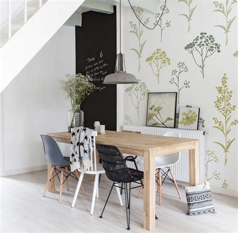Scandinavian Dining Room Design Ideas Inspiration by Flowers Scandinavian Style Dining Room By