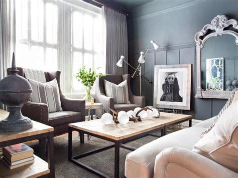 apartment makeover mixes masculine  feminine design hgtv