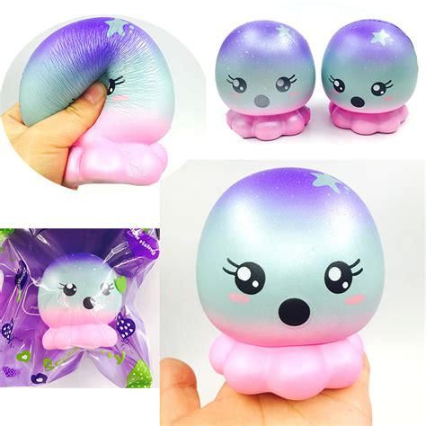 squishies wholesale 20pcs kawaii squishy jumbo octopus rising squishy with package