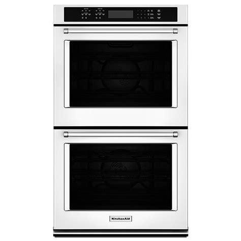 """KitchenAid 27"""" White Double Wall Oven   KODE507EWH"""