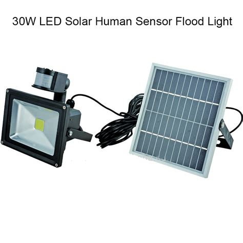 10pcs lot 30w motion sensor solar flood light outdoor