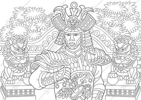 japanese samurai warrior coloring pages coloring book
